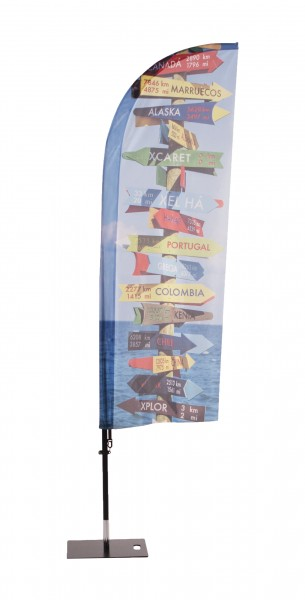 Beachflag Fiberglas mobil I