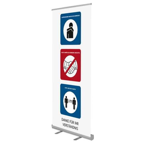 RollUp Display Hygiene Hinweise Corona Virus Krise