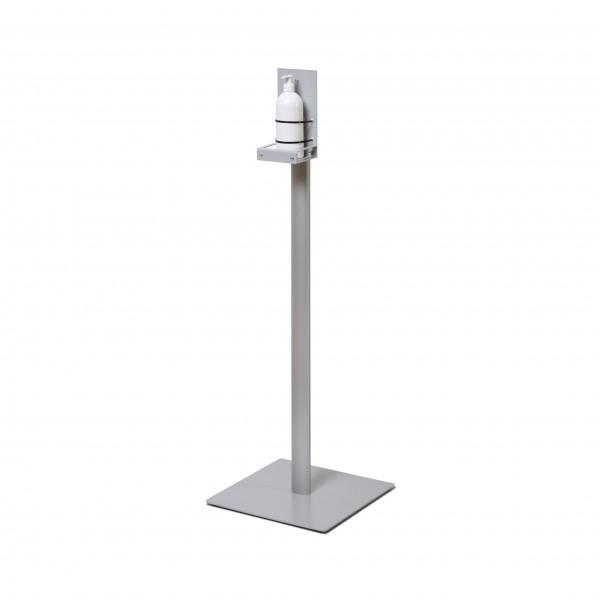 h&h Hygienestation/Desinfektionsständer Boden Metall Seite mit Flasche Corona Virus Krise