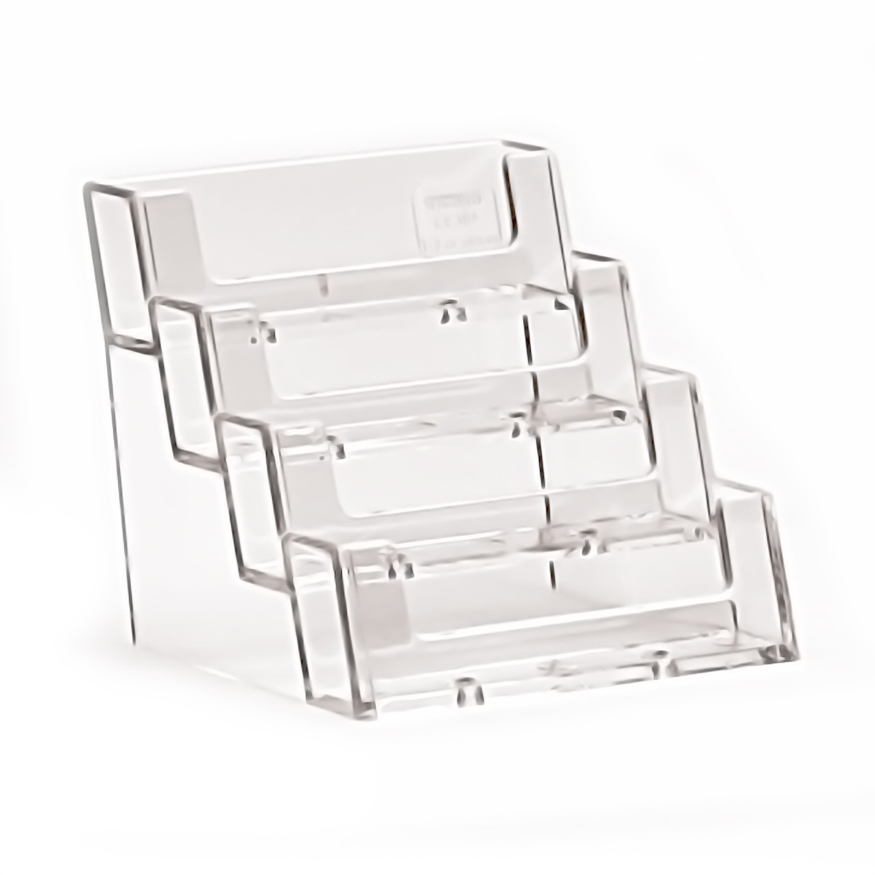 Visitenkartenhalter Theke Tisch 4fach Hintereinander