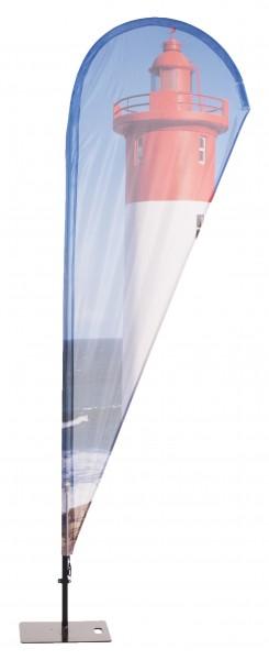 Beachflag Aluminium mobil II