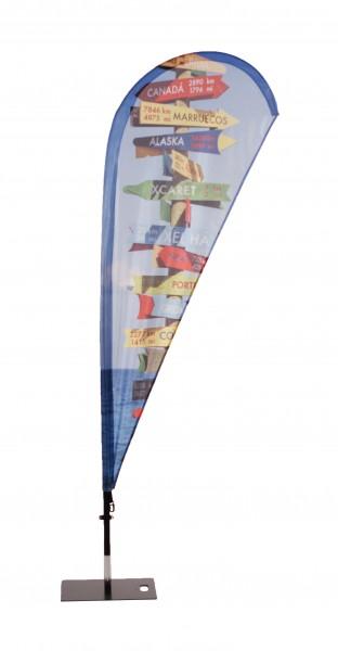 Beachflag Fiberglas mobil II