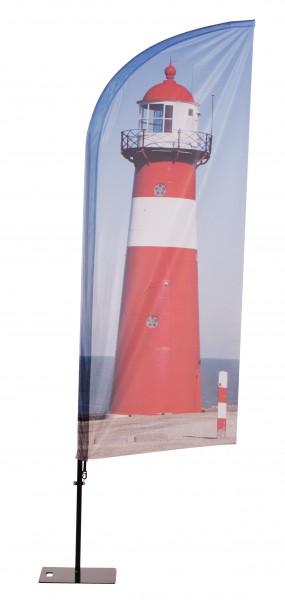 Beachflag Aluminium mobil I