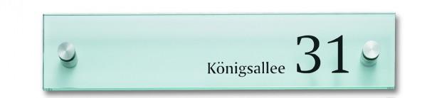 Infotafel / Wegweiser CRISTALLO klar | 1 Scheibe