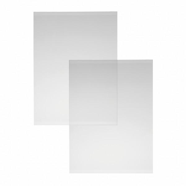 U-Tasche Hart-PVC ohne Bohrungen