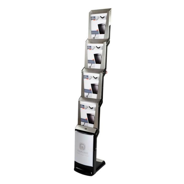 Prospektständer Boden mobil real steel