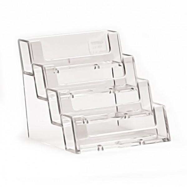 Visitenkartenhalter Theke / Tisch 4fach hintereinander