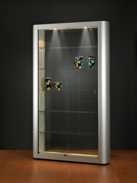 Bodenvitrine 150 / 250 Design beleuchtet Decke